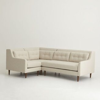 west elm Crosby 3-Piece Sectional - Oatmeal