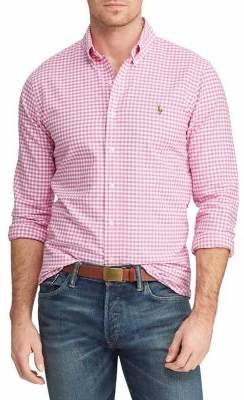 Polo Ralph Lauren Big Tall Classic-Fit Gingham Button-Down Shirt