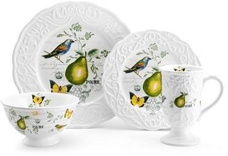 Mikasa Antique Countryside Pear 48 Piece Dinnerware Set