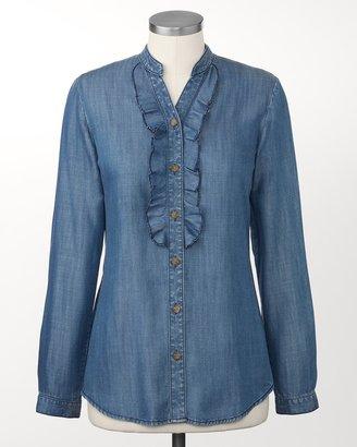 Coldwater Creek Ruffled tencel® shirt