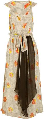 Gryphon Printed silk-chiffon dress