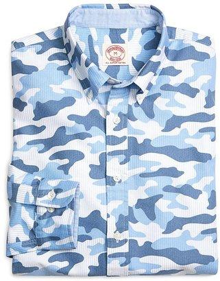 Camo Blue Stripe Oxford Sport Shirt