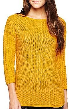 Nicole Miller nicole by Back-Zip Pullover Sweater