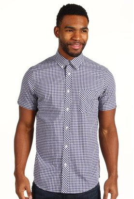 Ben Sherman Laundered Gingham Check S/S Shirt MA00543S Men's Short Sleeve Button Up