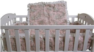 Baby Doll Bedding Toile Deluxe Port-a-Crib Set - Pink