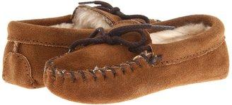 Minnetonka Kids - Pile Lined Softsole (Toddler/Little Kid) (Dusty Brown) - Footwear