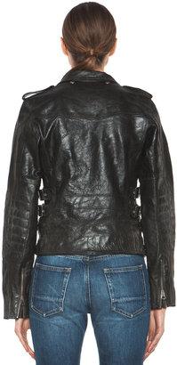 Golden Goose Leather Jacket in Black