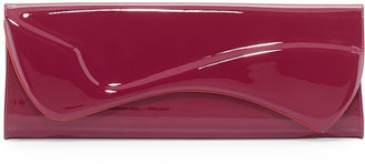 Christian Louboutin Pigalle Patent Clutch Bag, Magenta