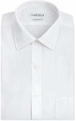 Van Heusen Men Classic-Fit White Poplin Dress Shirt