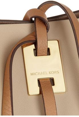 Michael Kors Miranda large leather trapeze tote