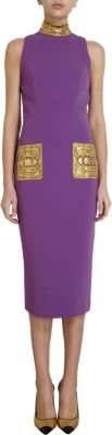 L'Wren Scott Beaded Accent Sheath Dress