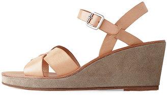 A.P.C. Cross Strap Wedge Sandal
