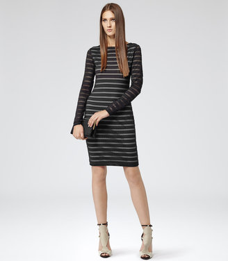 Reiss Cole BRODERIE BODYCON DRESS