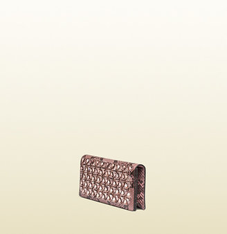 Gucci Broadway Beaded Python Clutch