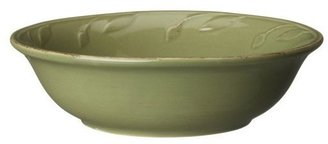 Signature Housewares Sorrento Collection 16-Ounce Cereal Bowl, Green Antiqued Finish, Set of 6