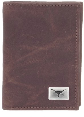 Texas Longhorns Leather Trifold Wallet