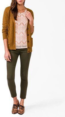 Forever 21 High-Low Lace Top