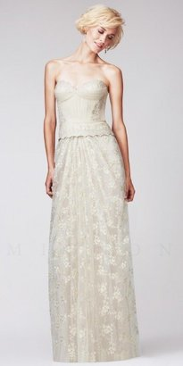 Mignon Sweetheart Embroidered Bustier Lace Evening Dresses