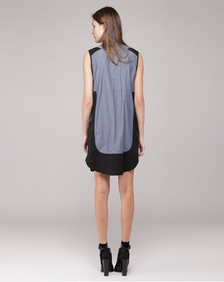 Proenza Schouler sleeveless 2 pocket shirtdress