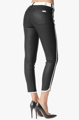 7 For All Mankind Sportif Crop In Black And White