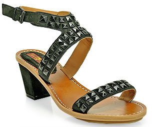 7 For All Mankind Strella - Sandal in Black Leather