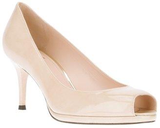 Stuart Weitzman peep toe shoe