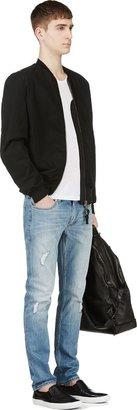 BLK DNM Blue Distressed Slim Jeans