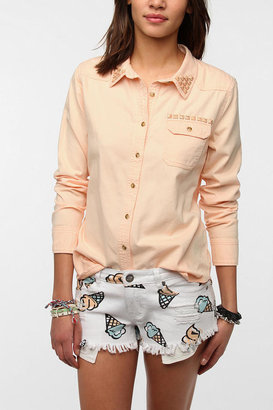 Sparkle & Fade Pastel Studded Oxford Shirt