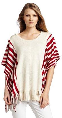Testament Women's Stripe Fringe Poncho