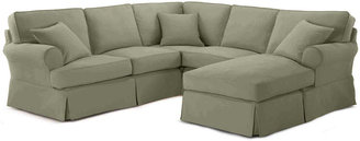 JCPenney FURNITURE PRIVATE BRAND Friday Twill 3-pc. Slipcovered Chaise Sectional