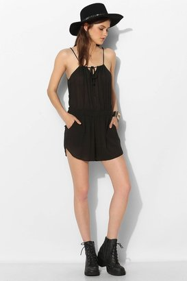 Urban Outfitters Staring At Stars Tie-Front Keyhole Romper