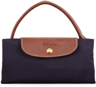 Longchamp Le Pliage Large Monogram Travel Tote Bag, Purple