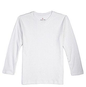Class Club 8-20 Modern Drop Needle V-Neck Sweater