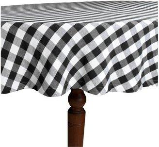 Sur La Table Black & White Checked Tablecloth