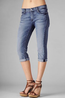 7 For All Mankind Crop Josefina In Summer Blue Distressed