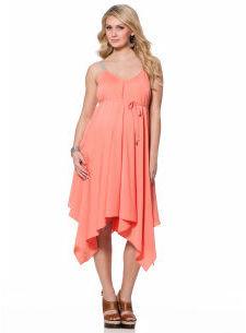 Motherhood Jessica Simpson Spaghetti Strap Hankey Hem Maternity Dress
