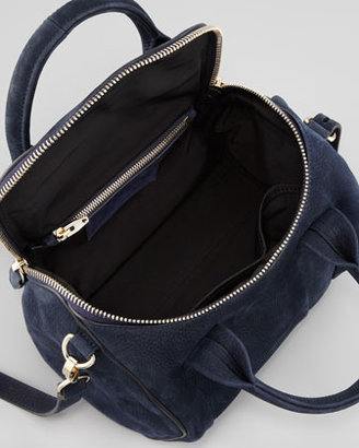 Alexander Wang Rockie Small Crossbody Satchel Bag, Navy
