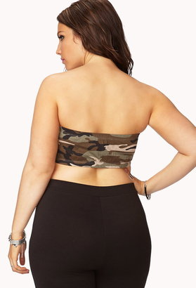 Forever 21 Plus Size Camo Layering Bandeau