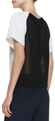 Alice + Olivia Camille Combo-Color Boxy Tee