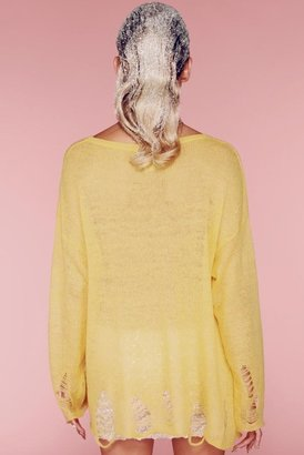 Wildfox Couture 90s Smile Lennon Sweater in Happy Face