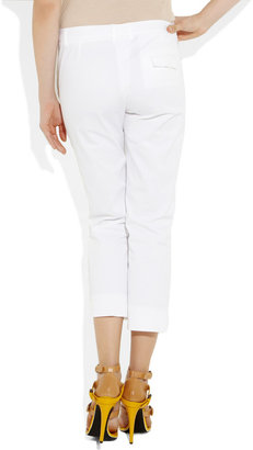 Jil Sander Cotton-blend twill straight-leg pants