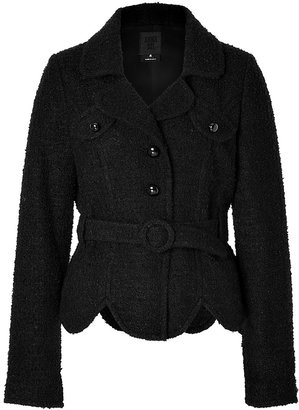 Anna Sui Boucle Jacket in Black
