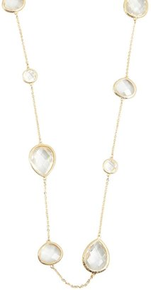 Kenneth Jay Lane Gold Chain And Crystal Necklace