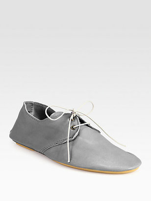 Anniel Leather Lace-Up Oxfords