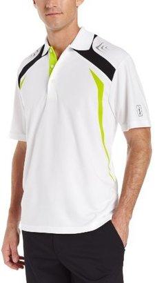 PGA TOUR Men's Short Sleeve Fusion Block Polo Shirt With Reflective Print