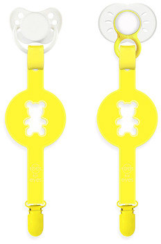 Bed Bath & Beyond Paciplay Teethable Pacifier Holder - Yellow Bear