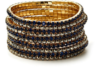 RJ Graziano Set Of 8 Gold Stretch Bracelets