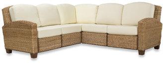 Bed Bath & Beyond Home Styles Cabana Banana Honey Oak L-Shape Sofa