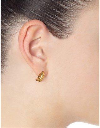 Jen Kao Gold Skelly Hand Earrings