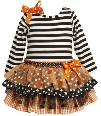Bonnie Jean Girls 2-6X Knit Top To Drop Waist Tiered Skirt